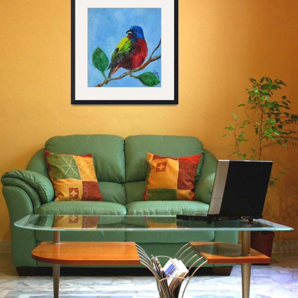 """""""Painted Bunting&quot  (2011) by CeruleanBirdcage"""
