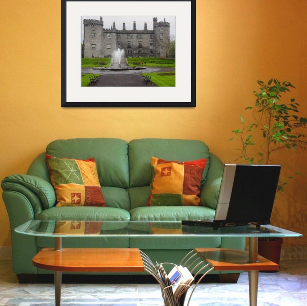 """Kilkenny Castle and Fountain in Ireland&quot  (2015) by FingerLakesPhotos"