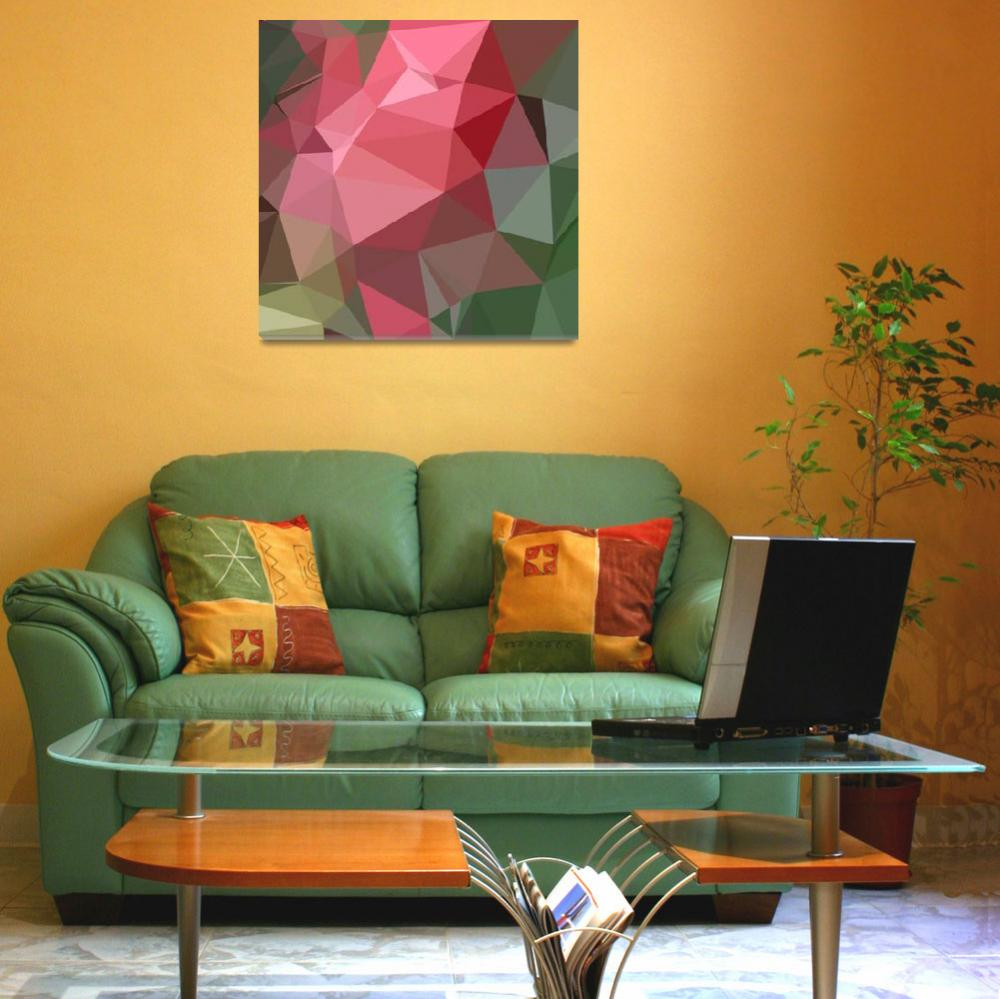"""""""Congo Pink Abstract Low Polygon Background&quot  (2015) by patrimonio"""