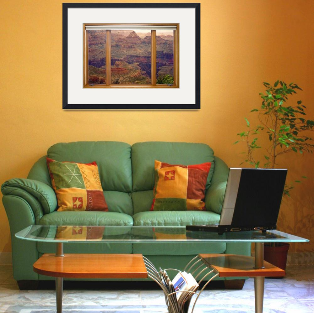 """""""Colorful Grand Canyon Modern Wood Picture Window&quot  (2013) by lightningman"""
