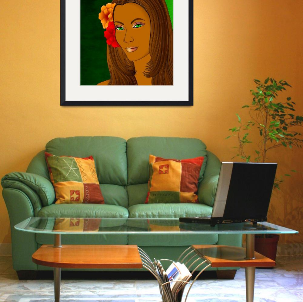 """""""Green Eyed Lady (2)&quot  (2010) by myikpix"""
