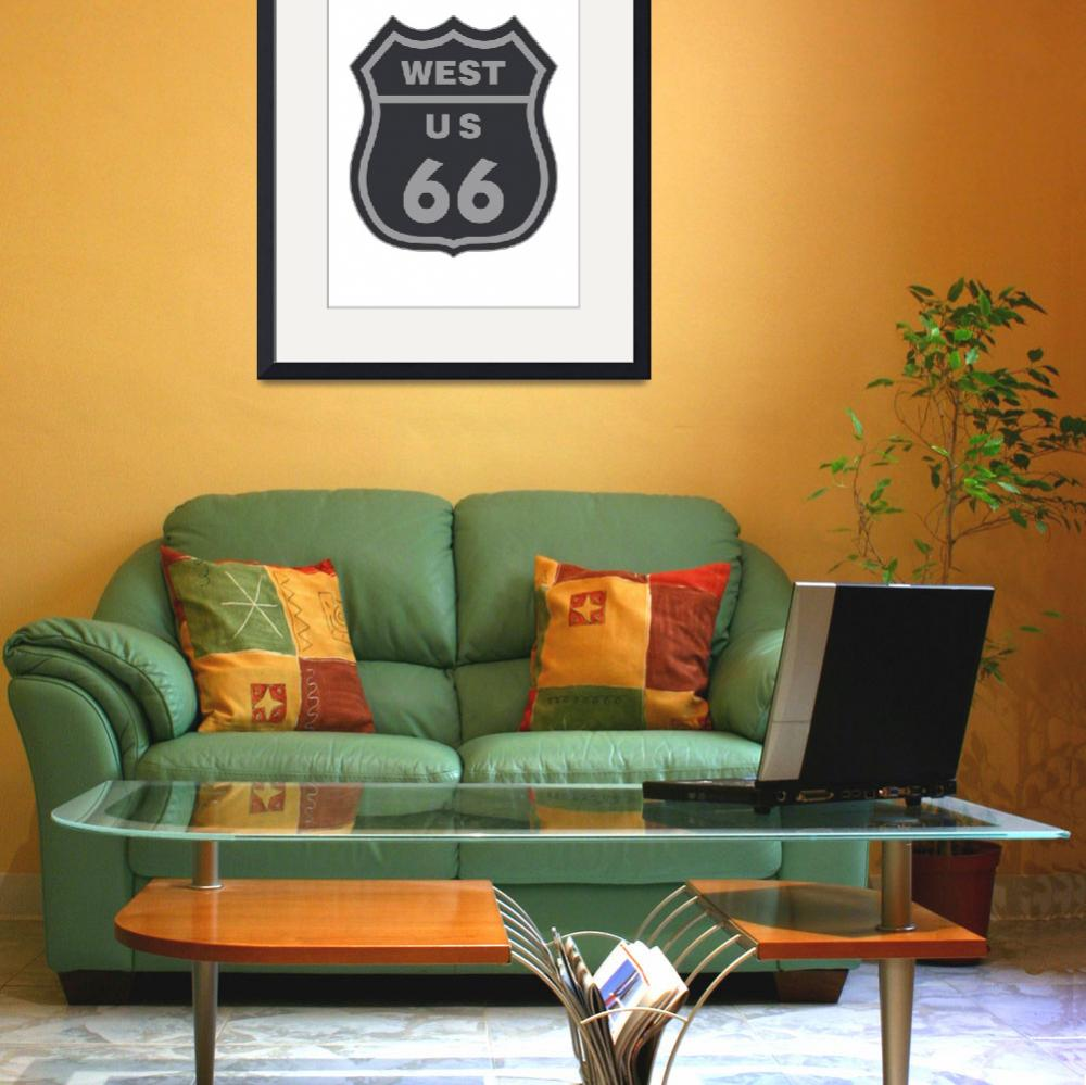 """""""Route 66 sign&quot  by IndianSummer"""