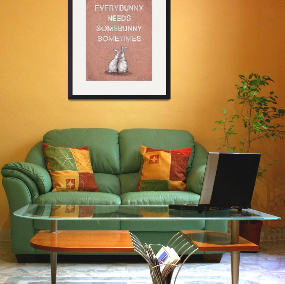 """Everybunny Loves Somebunny Sometimes Poster Print""  (2010) by euphorianchic"