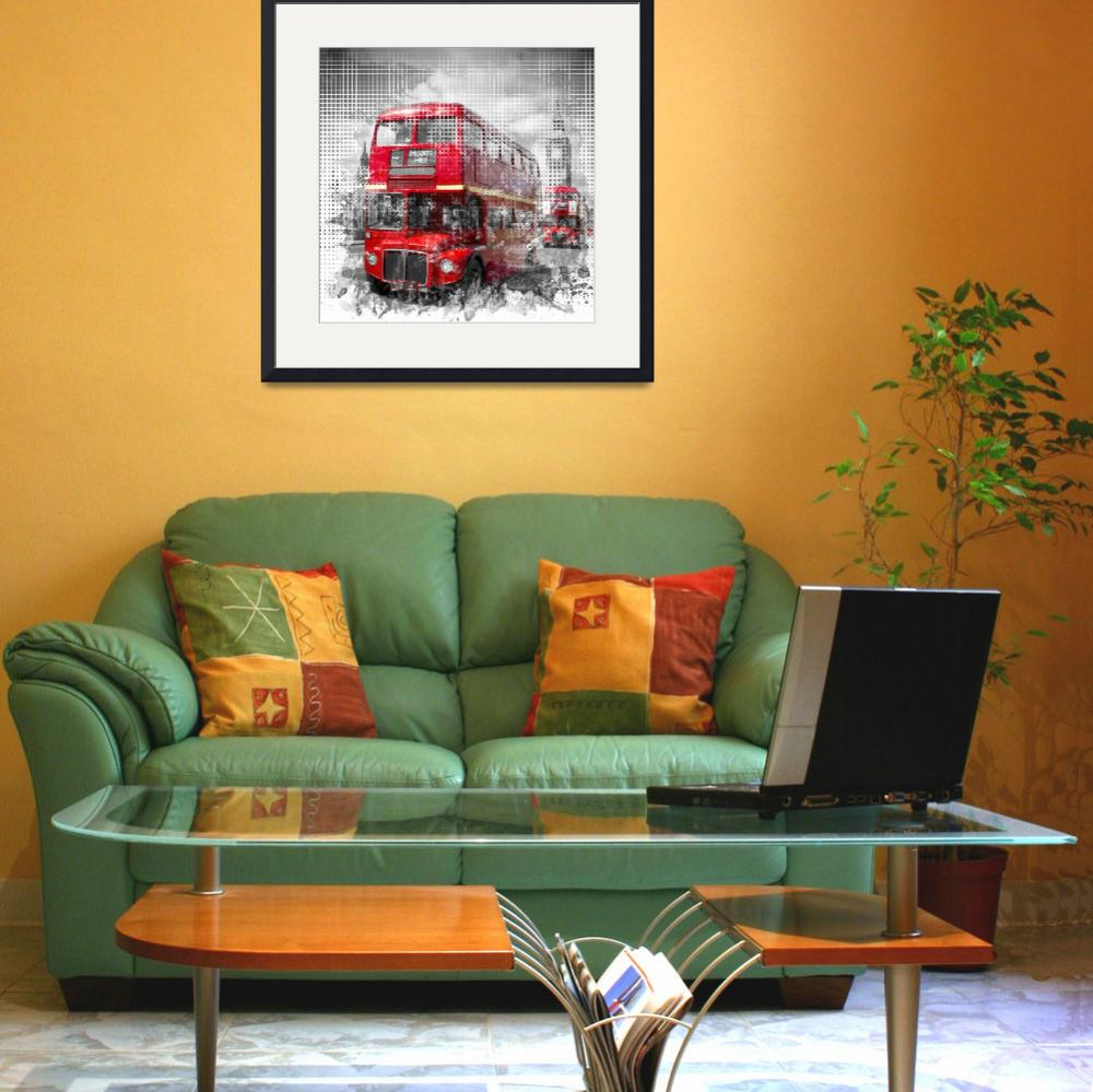 """""""Graphic Art LONDON WESTMINSTER Red Buses&quot  (2016) by MelanieViola"""
