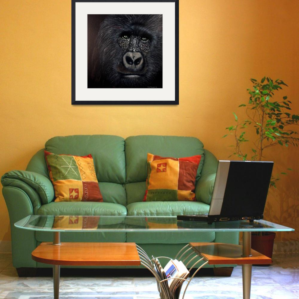 """""""Cryinng Gorilla&quot  (2009) by DonGriffithArt"""