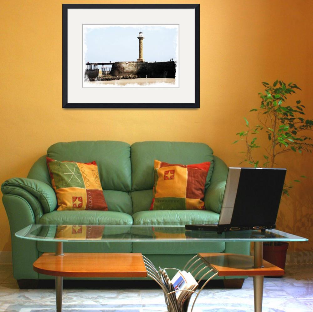 """""""Digital Watercolor of Whitby"""