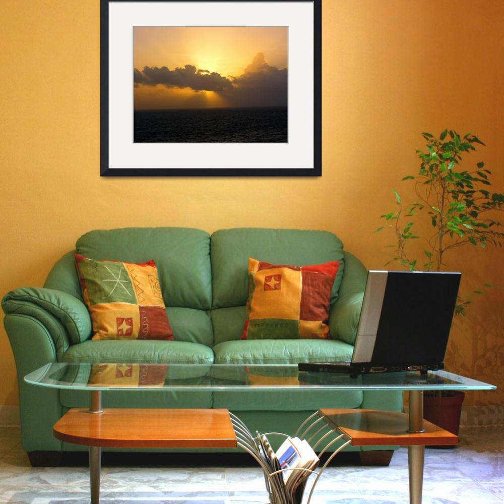 """""""Caribbean Sunset At Sea&quot  (2008) by SnapitNow"""