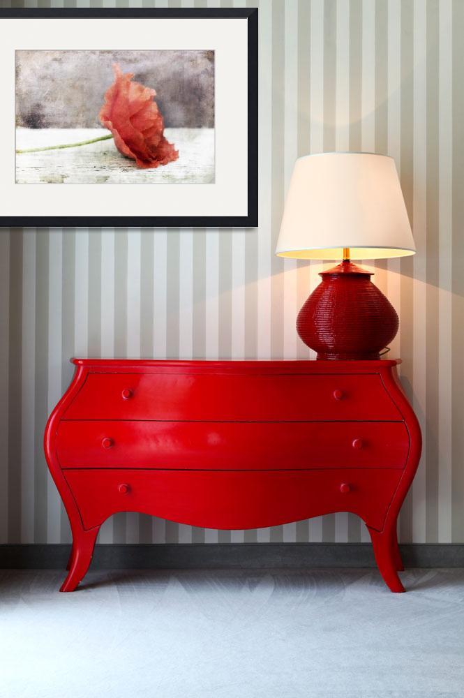"""""""Decor Poppy in red&quot  (2013) by Piri"""