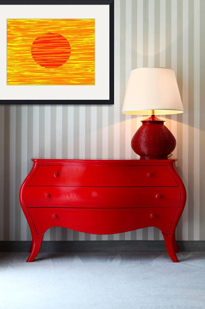 """RED AND GOLD&quot  (2012) by Tronagallery"