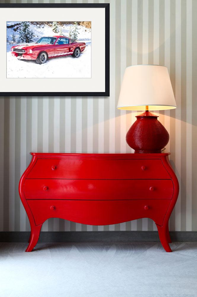 """Red Ford Mustang Shelby 1966&quot  (2011) by lightningman"