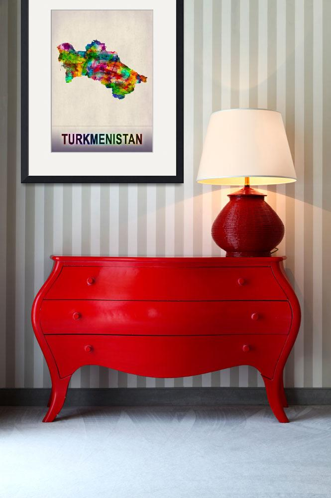 """""""Turkmenistan Map""""  by Towseef"""