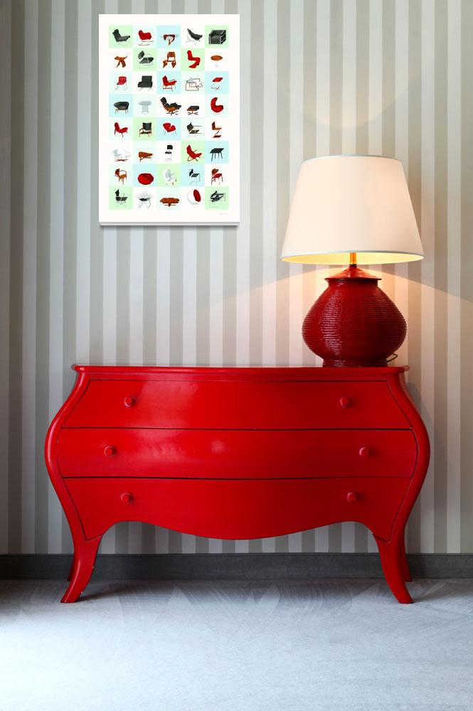 """""""Mid-Century Modern Furniture (Cool)&quot  (2009) by jamesprovost"""