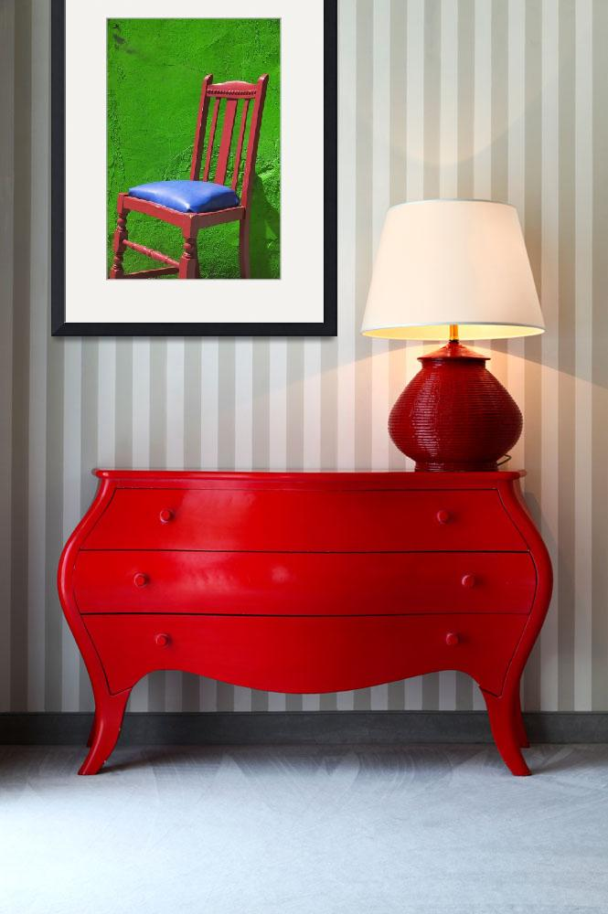 """""""Red chair green wall""""  (2012) by photogarry"""
