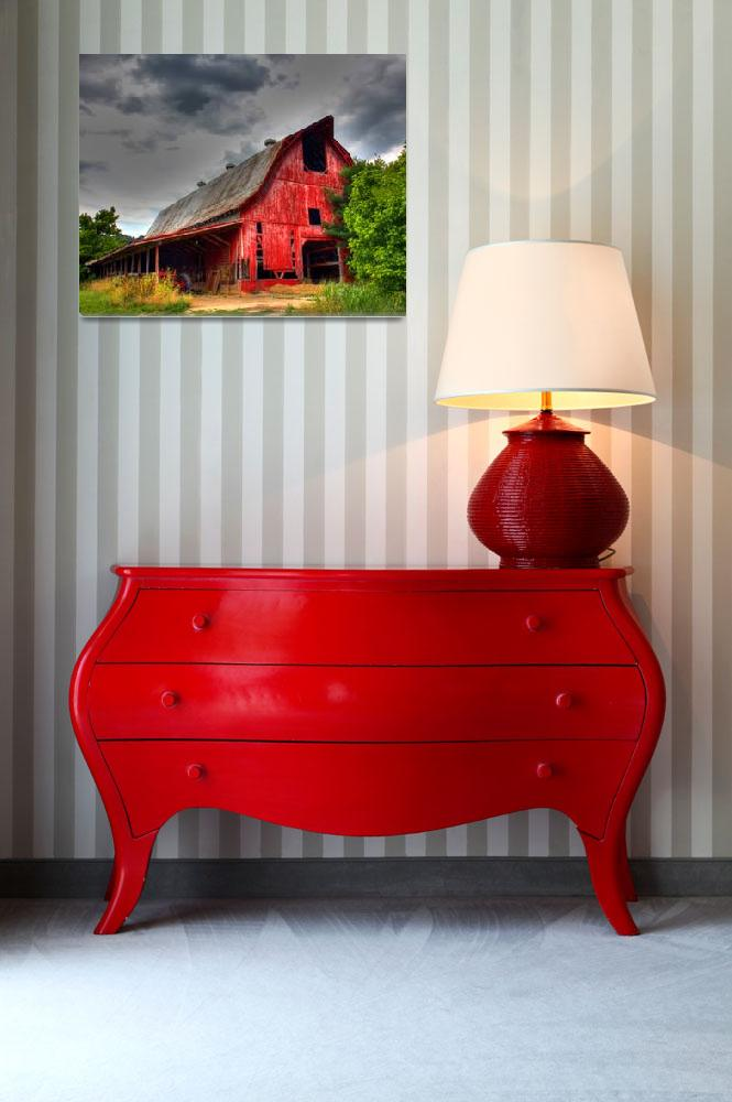 """""""Old Red Barn-20X16""""  by artbytlh"""