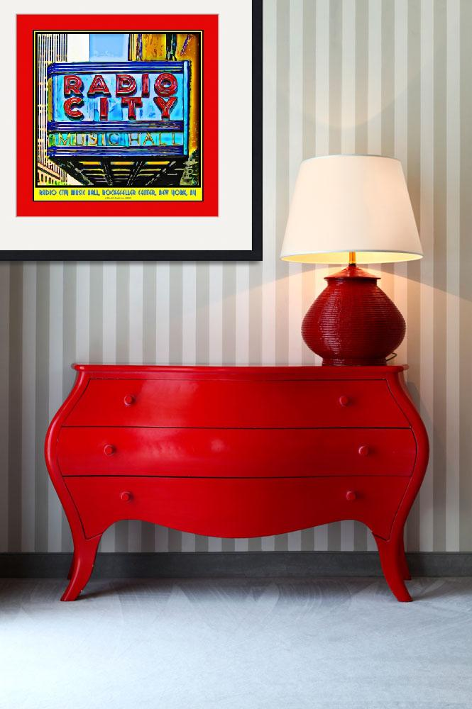 """""""Radio City Music Hall Sign - Red Border&quot  (2009) by Automotography"""