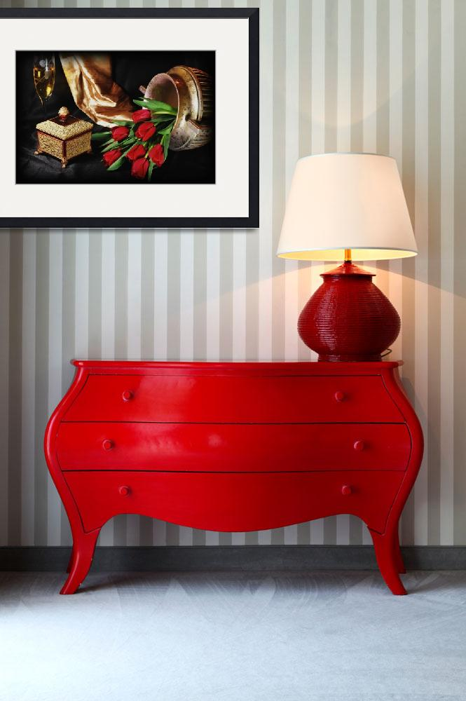 """""""The Red Tulip Urn&quot  (2008) by DianaLeePhotoDesigns"""