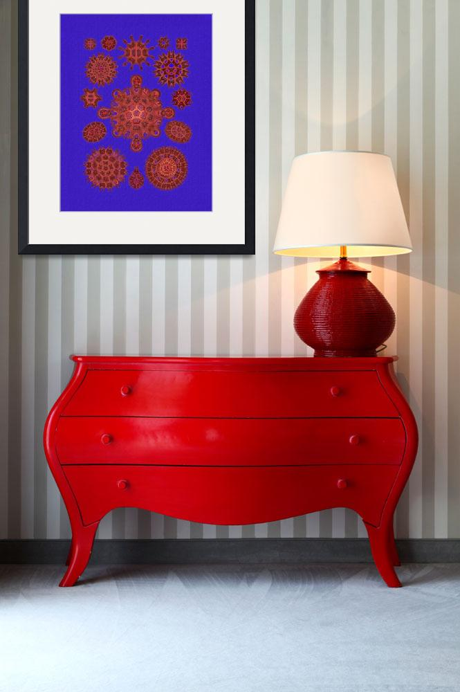 """""""Melethallia in Royal Blue and Red""""  (2016) by dianeaddis"""