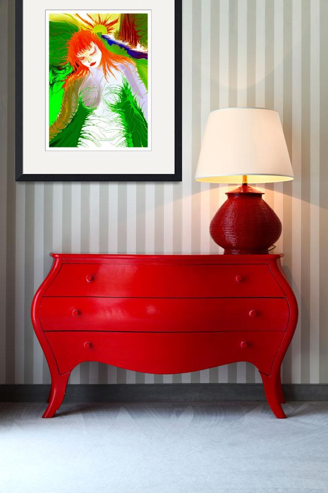 """""""Green Girl Red!&quot  (2003) by RitchardMifsud"""