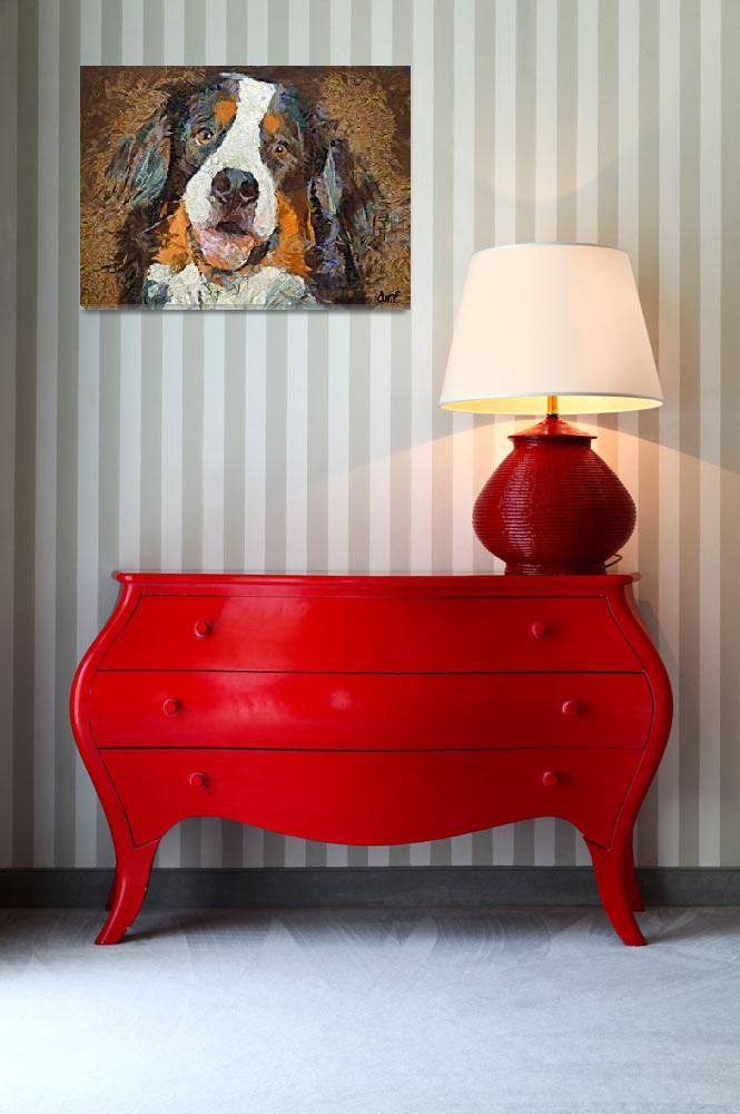 """Bernese mountain dog- Bimbo&quot  by DragicaMickiFortuna"