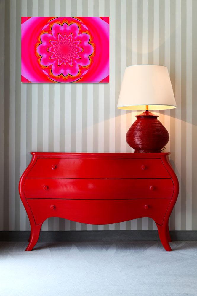 """Calm Pink Lotus Mandala  2""  by Atlantis-Seeker-Art"