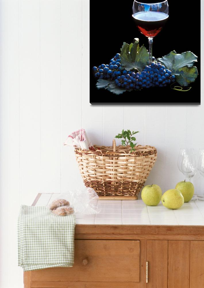 """""""Red Wine and Grapes&quot  by winecountrycreations"""
