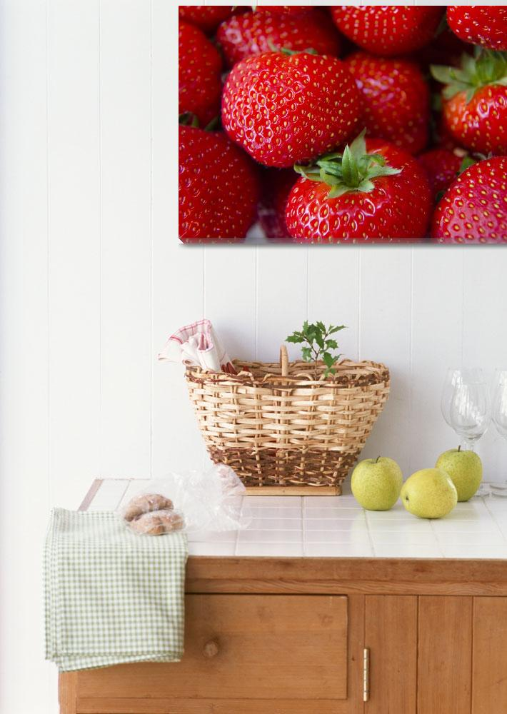 """""""strawberry macro photo food fruit photography""""  (2019) by gut2000"""