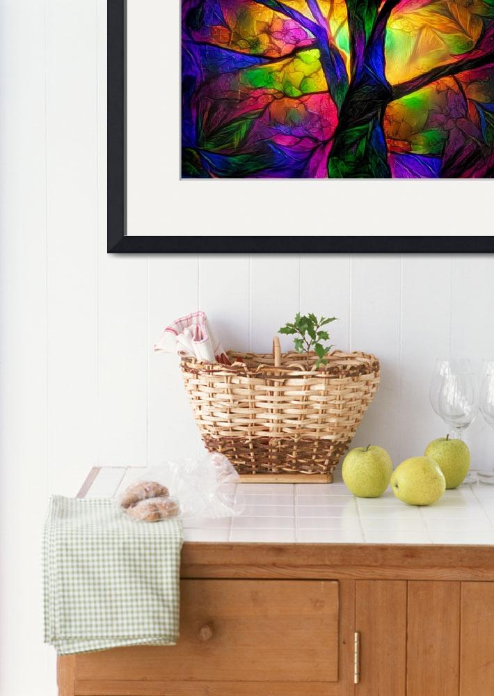"""""""Colorful tree&quot  by Art_by_Lilia"""