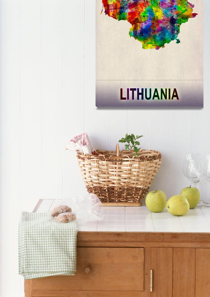 """Lithuania Map""  by Towseef"