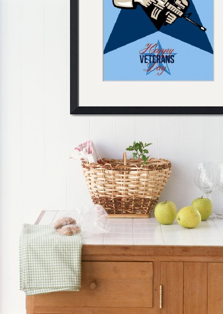 """""""Modern Soldier Veterans Day Greeting Card Front""""  (2014) by patrimonio"""