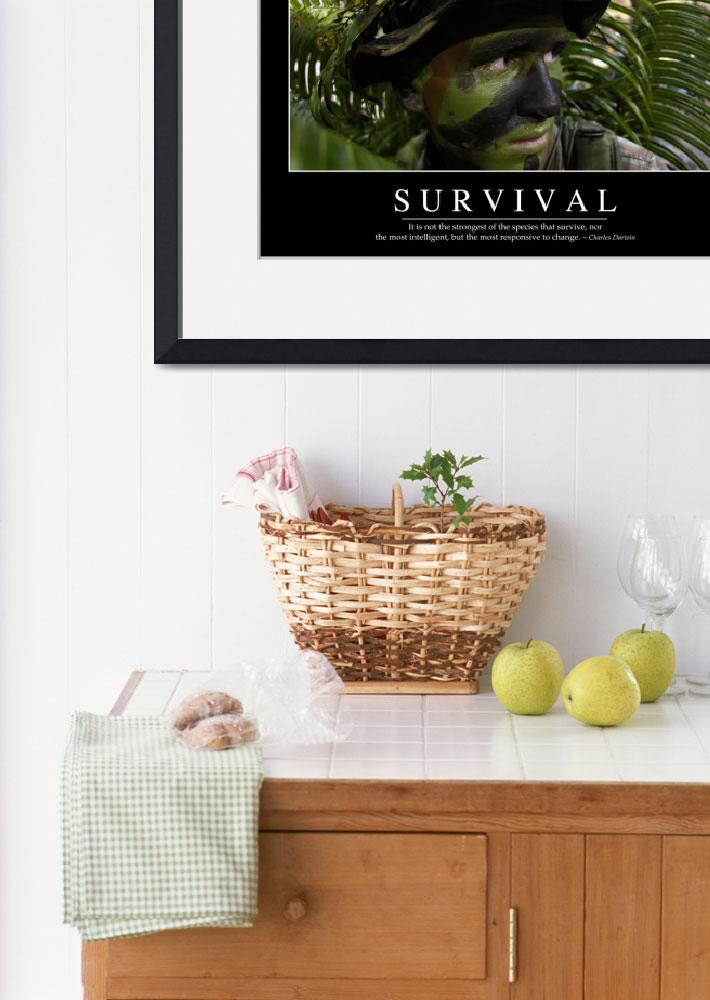 """Survival: Inspirational Quote and Motivational Pos&quot  by stocktrekimages"