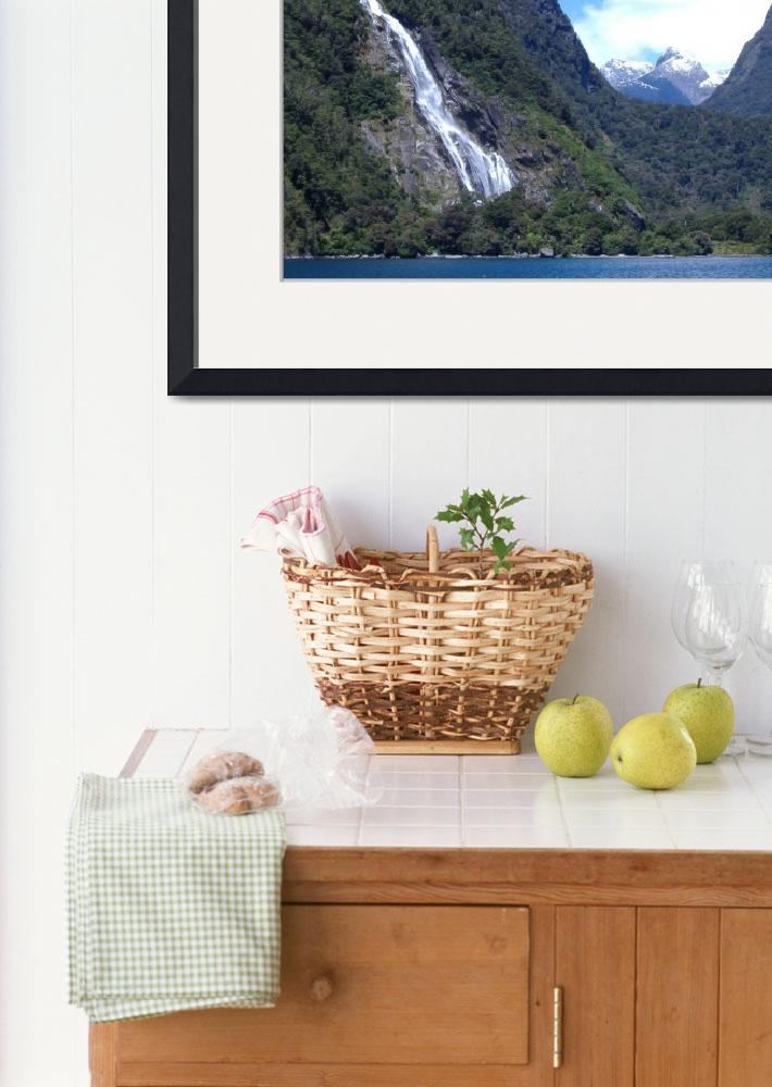 """""""Bowenvale Falls Milford Fiordland&quot  (2007) by campbellpotter"""