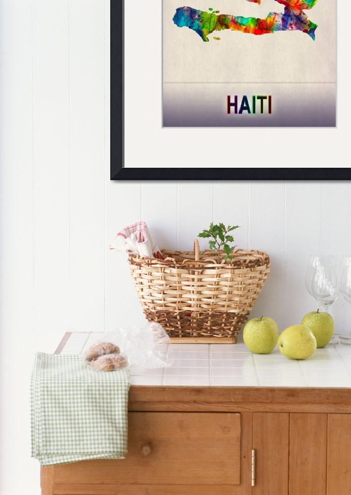 """""""Haiti Map""""  by Towseef"""