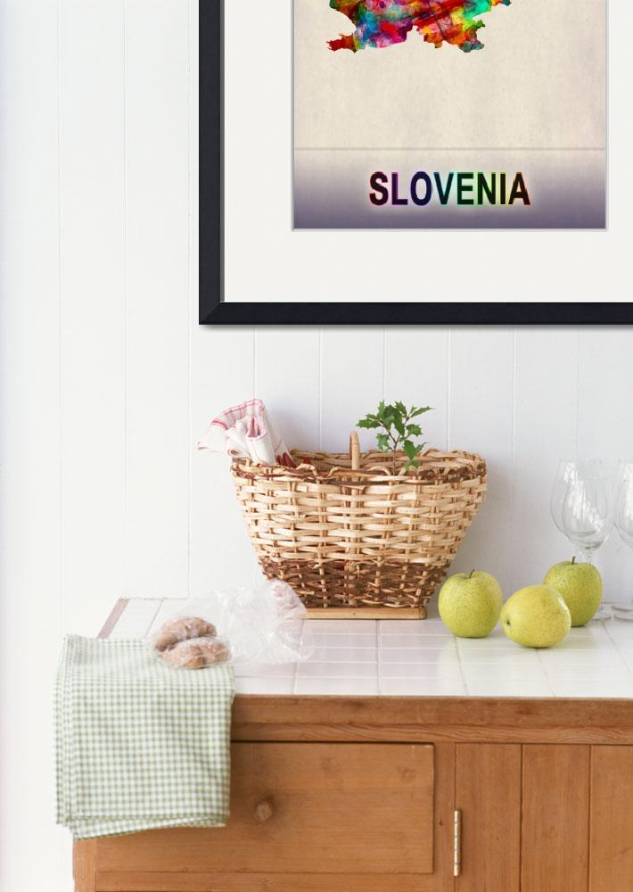"""""""Slovenia Map""""  by Towseef"""