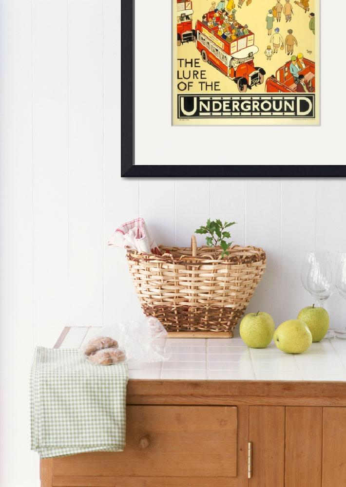 """The Lure of the Underground Vintage Poster""  by FineArtClassics"