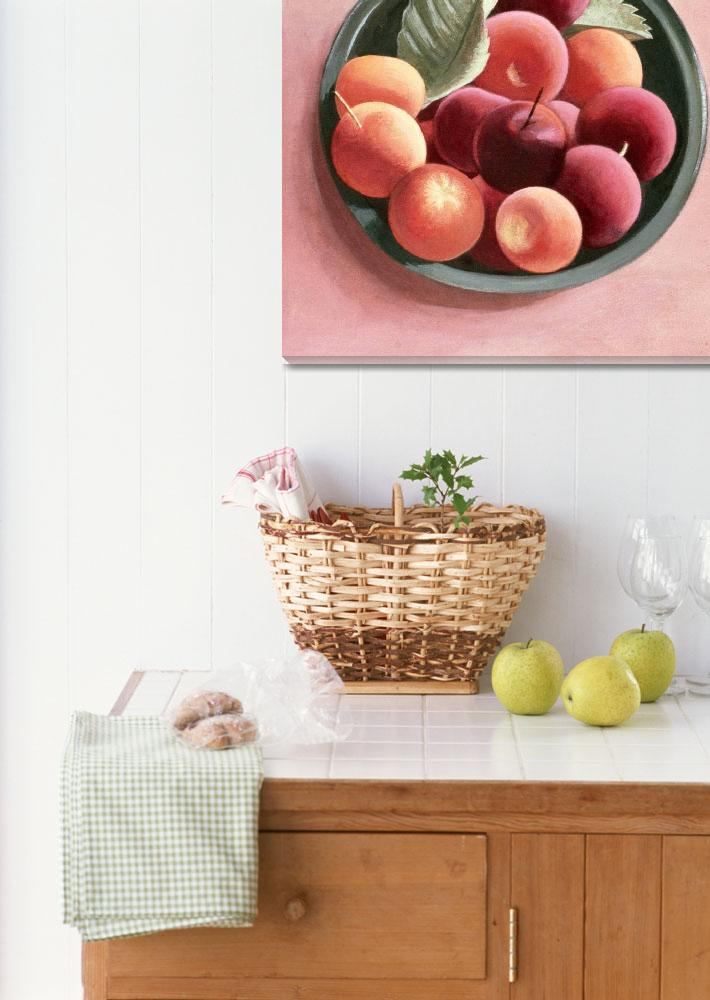 """""""Bowl of Fruit (egg tempera on paper)""""  by fineartmasters"""