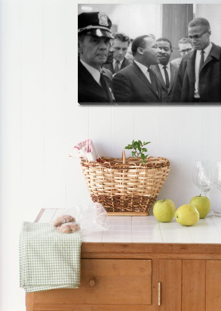 """""""Martin Luther King Jnr (1929-1968) and Malcolm X (&quot  by fineartmasters"""