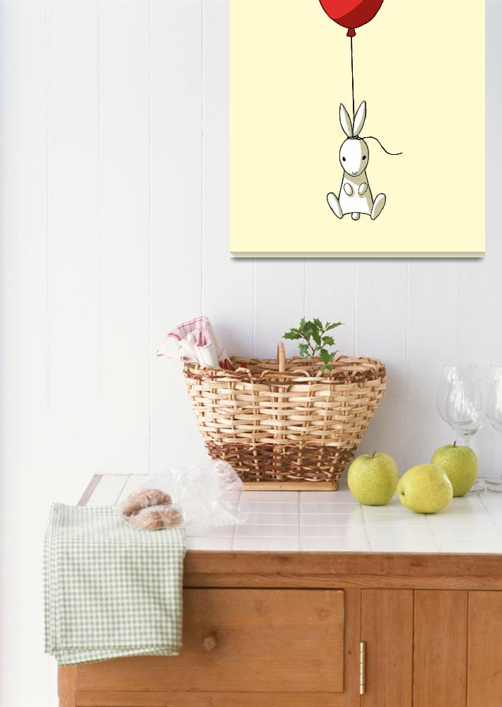 """""""Balloon Bunny""""  (2012) by freeminds"""