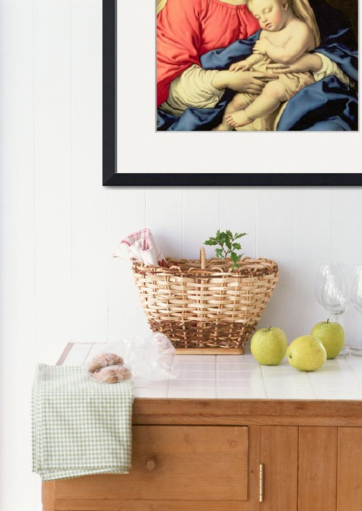 """""""Madonna and Child by Il Sassoferrato&quot  by fineartmasters"""