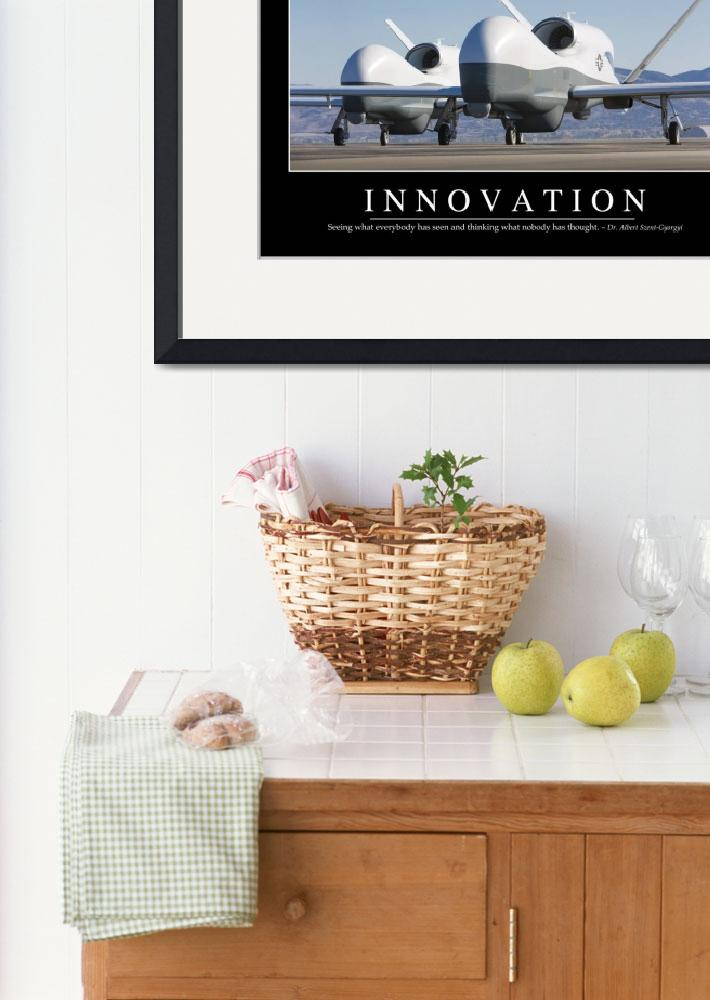 """""""Innovation: Inspirational Quote and Motivational P&quot  by stocktrekimages"""
