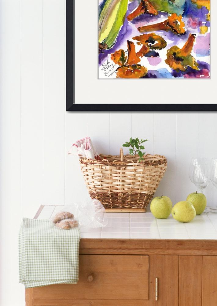 """""""Chanterelles Watercolor Still Life by Ginette&quot  (2010) by GinetteCallaway"""