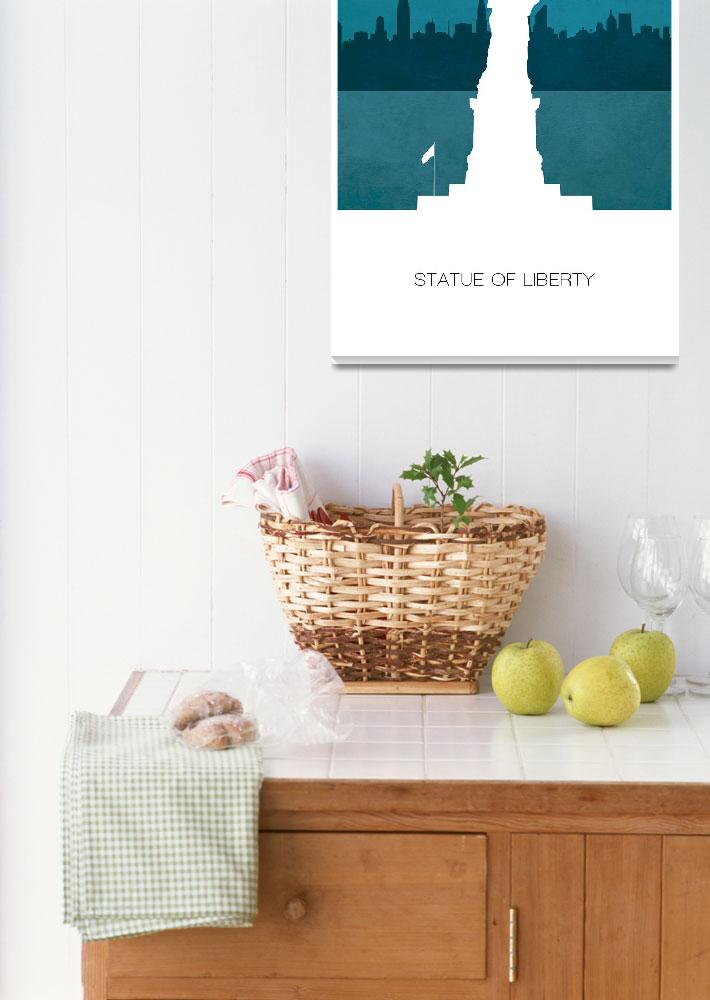 """""""Statue of Liberty w""""  (2012) by javinabar"""