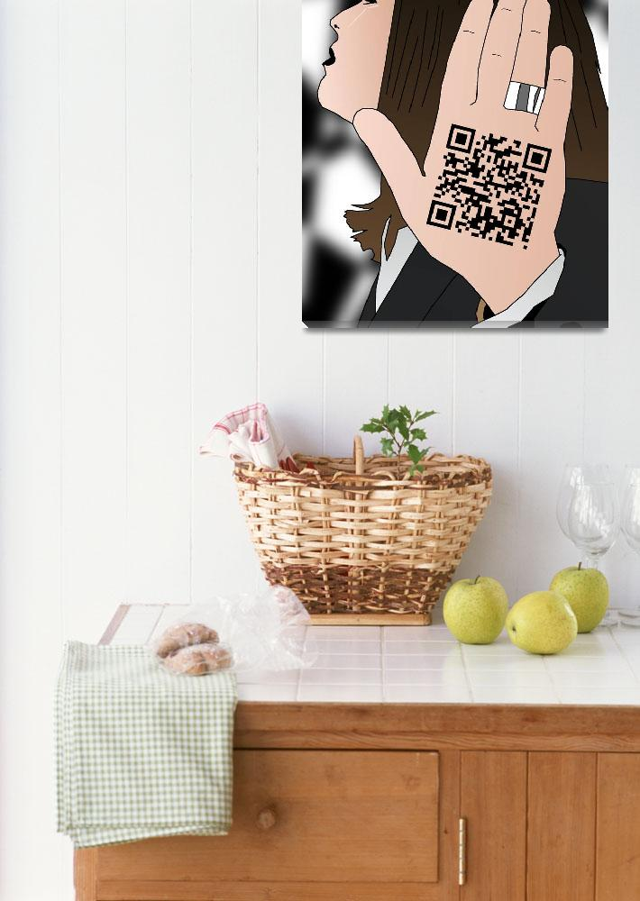 """""""Talk to the hand cause the QR code understand&quot  (2012) by Casino"""