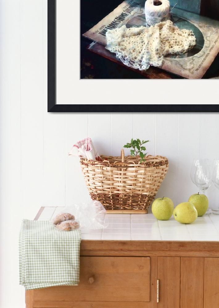 """""""Doily And Crochet Thread&quot  by susansartgallery"""