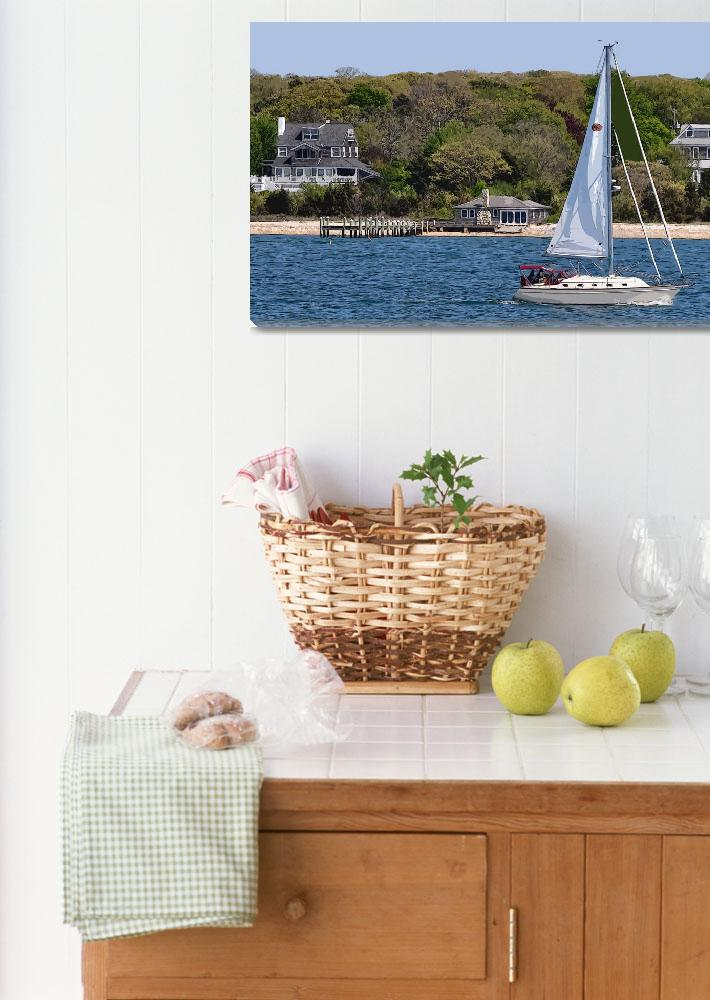 """Spring New England Sailing&quot  (2012) by Kirtdtisdale"