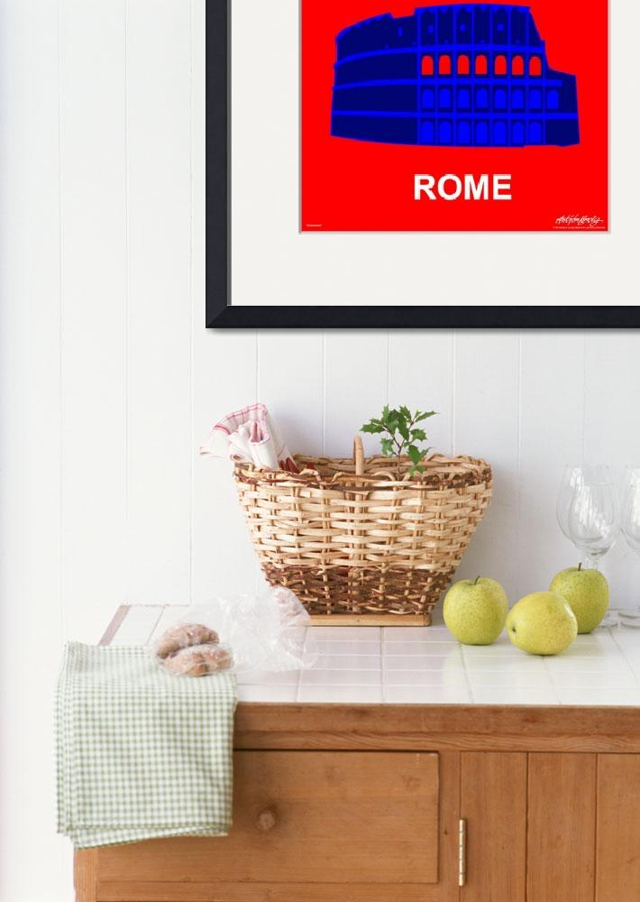 """""""Colosseum - Text Poster""""  by Lonvig"""