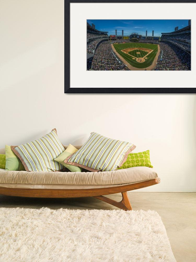 """""""CHICAGO WHITE SOX Panoramic US Cellular Field&quot  by DavidHaskett"""