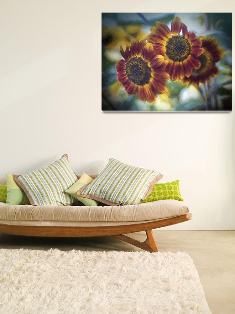 """""""Sunflower Photo Painting&quot  (2012) by SederquistPhotography"""