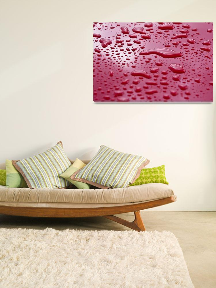"""""""Liquid Drops On Red Surface""""  by DesignPics"""