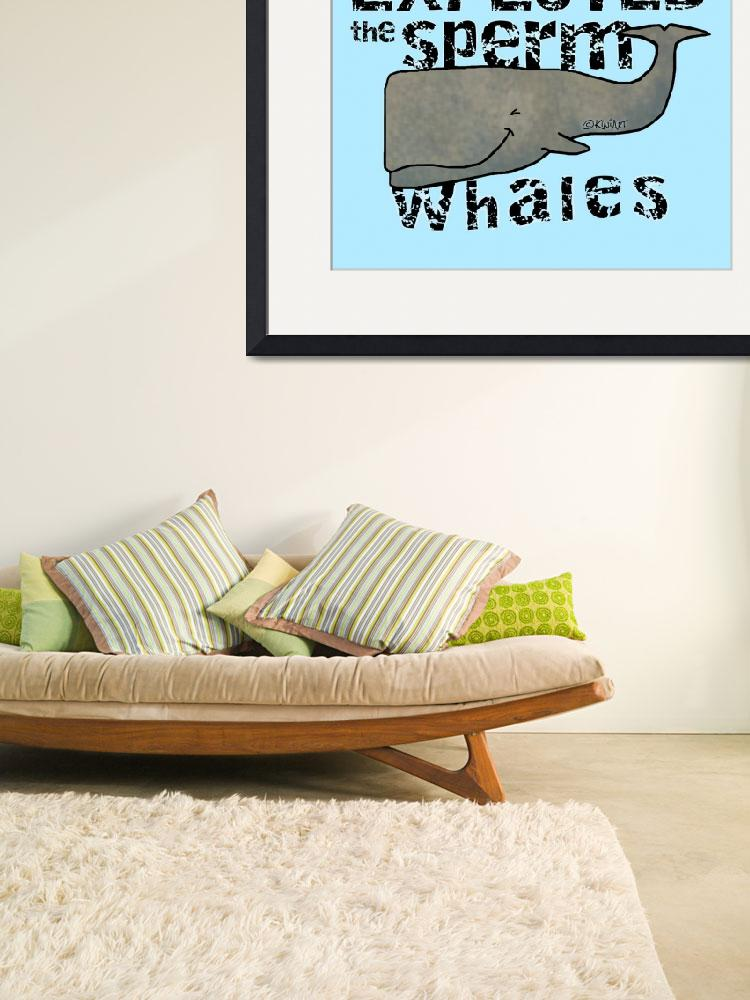 """""""The Sperm Whales&quot  (2013) by KiniArt"""