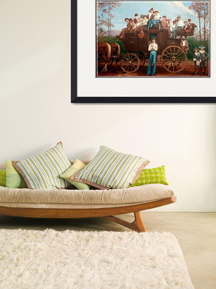 """""""Western Stagecoach Wall Mural&quot  by sherryswest"""